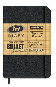 Caderno Bullet Journal It Diary Quadriculado São Domingos 80 Folhas