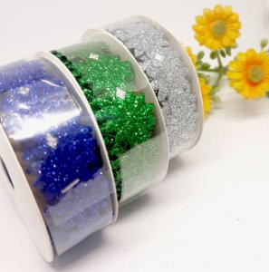 Fita Adesiva Decorativa Glitter - Flor