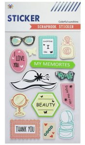 Sticker Scrapbook 3D - Colorful Sunshine Fashion