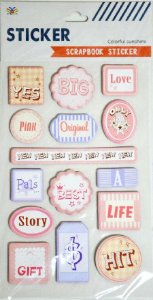 Sticker Scrapbook 3D - Colorful Sunshine Words