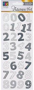 Adesivo Foil Toke e Crie - Números Prateado