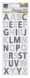 Adesivo Foil Toke e Crie - Alfabeto Prateado