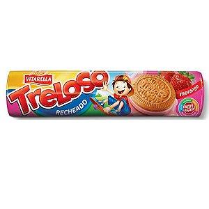 Biscoito Treloso Recheado Morango 130g