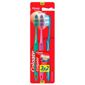 Escova Dental Colgate Classic Clean Media Leve 3 Pague 2