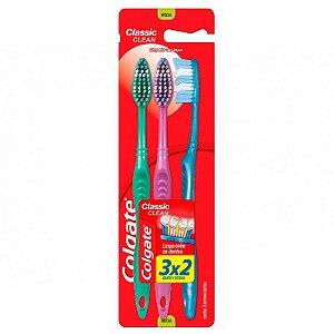 Escova Dental Colgate Classic Clean Media Leve 3 Pague 2