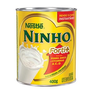 Leite em pó integral instantâneo NINHO Forti+ 400g