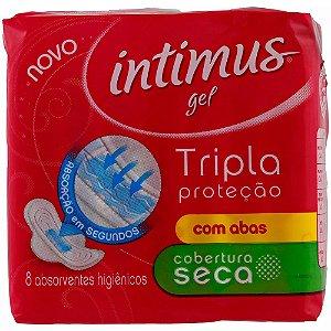 Absorvente Intimus Gel Tripla Proteção Suave com Abas 8 unidades