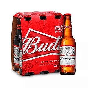 Cerveja Budweiser 343ml - Caixa com 6 unidades (Gelada)