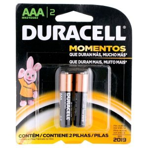 Pilha Palito AAA Duracell 02 unidades