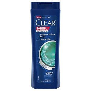 Shampoo Anticaspa Clear Men Limpeza Diária 2em1 200ml
