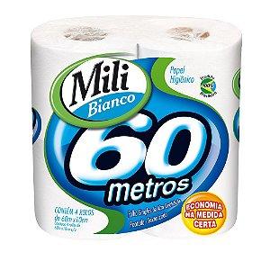 Papel Higiênico Mili Bianco Neutro 60Mx4