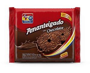 Biscoito Amanteigado de Chocolate Fortaleza 400g