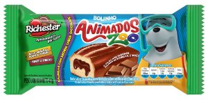 Bolo Richester Animados Zoo Baunilha e Chocolate 40g