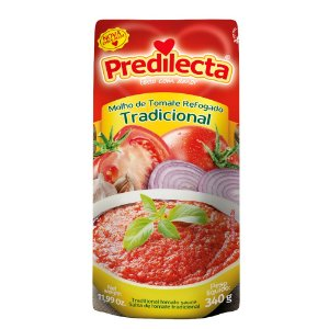 Molho de Tomate Refogado Tradicional PREDILECTA Sachê 340g