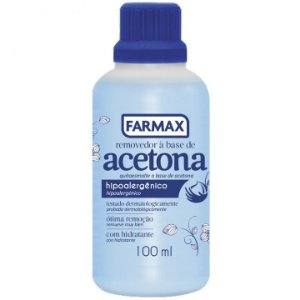 Removedor a base de Acetona Farmax 100 ml