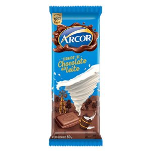 Chocolate Arcor ao Leite 50g