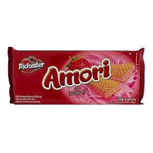 Biscoito Wafer Richester Amori Sabor Morango 120g