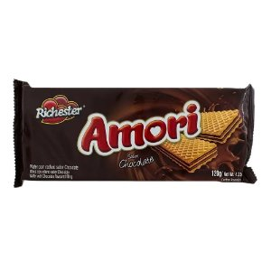 Biscoito Wafer Richester Amori Sabor Chocolate 130g