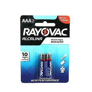 Pilha Rayovac Alcalina AAA Com 2