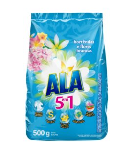 Detergente em Pó ALA Hortênsias e Flores Brancas 500g