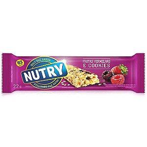 Barra de Cereais Nutry Frutas Vermelhas e Cookies 22g