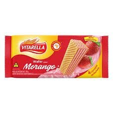 Biscoito Vitarella Wafer Morango 100g