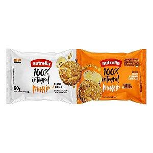 Muffin 100% Integral de Banana & Cereais Nutrella 60g