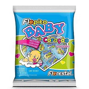 Pirulito Baby Coração Colorido PCT C/50