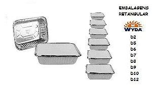 Embalagem Retangular D-1 C/100 850ml  Wyda CX C/100
