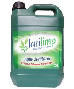 Água Sanitária Larilimp 2,5% 5 litros