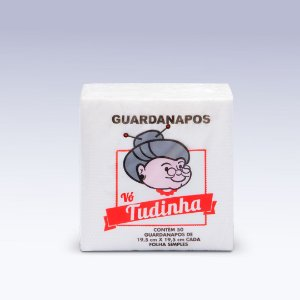 Guardanapo de Mesa Vó Tudinha 19,5x19,5 C/ 50x50 Folhas