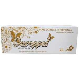 Papel Interfolha Ouroppel Supreme Extra Luxo Folha Dupla 22,5cm
