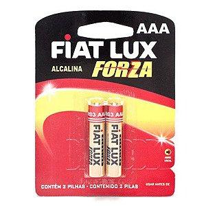 Pilha Fiat Lux Alcalina AAA Palito C/2