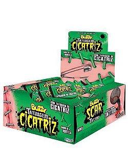 Chiclete Buzzy Cicatriz CX C/100 - Sabores