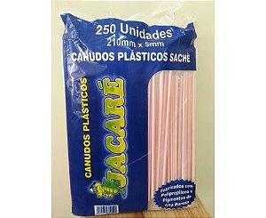 Canudo Jacaré Milk Shake Açai C/200 Uni