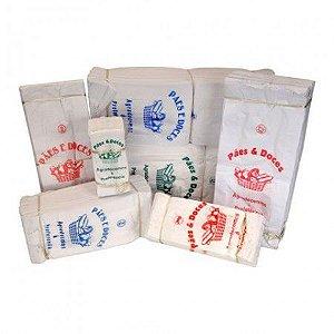 Saco de Papel Kraft Branco C/500 - Tamanhos
