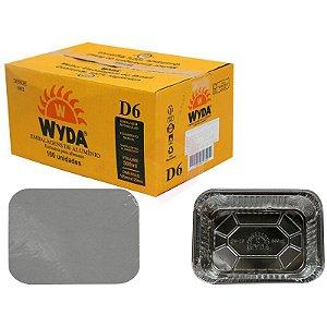 Embalagem Retangular D-6 500ml  C/100