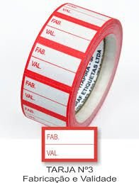 Etiqueta Multiuso n° 10 Data/Validade C/4