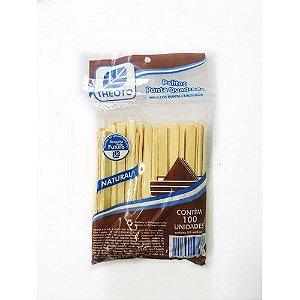 Palito p/ Sorvete  Madeira Theoto 12cm C/100