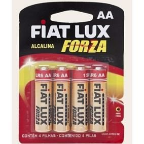 Pilha Fiat Lux Alcalina AA Pequena C/4