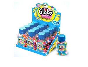 Mini Chiclete Animadas Globy 20gr Cx C/18