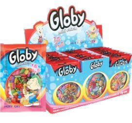 Mini Chicle Sache Globy Tutti-Fruti  11gr Cx C/24
