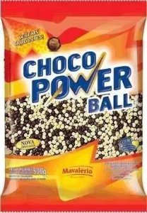Choco Power Ball Mini Chocolate e Choc. Branco Mavalério 500gr