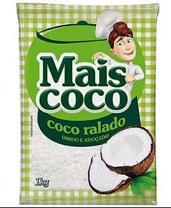 Coco Ralado Mais Coco Adoçado e Úmido 1 kG