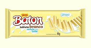 Baton Recheado Chocolate Branco 96g C/10