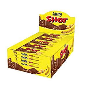 Chocolate Shot  Amendoim Lacta 20g C/20