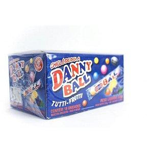 Chicle Danny Ball Tutti Frutti C/18 Tubos De 6