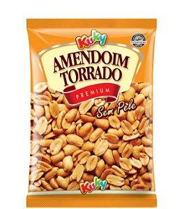 Amendoim Torrado Sem Pele Sem sal Kuky 500g