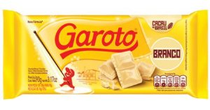 Barra Garoto Chocoalte Branco 100g C/14