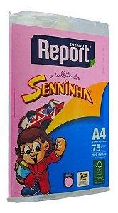 Papel Sulfite Report Seninha Colorido C/100